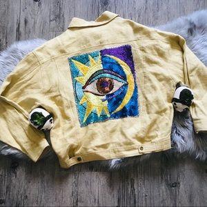 Vintage All Seeing Eye Embellished Jacket